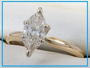 cincin berlian Marquise