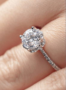cincin berlian Lotus Carat 2