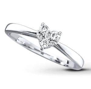 cincin berlian Heart