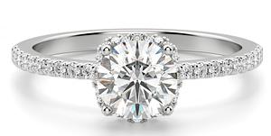 cincin berlian Lotus Carat