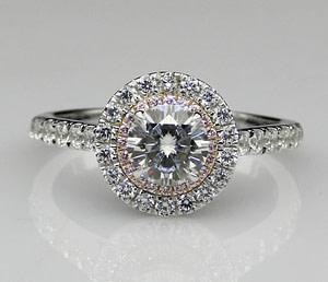cincin berlian Halo